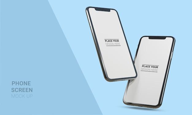 Рендеринг реалистичного 3d-макета смартфона