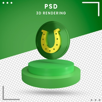 Rendering 3d rotated green st. patrick's day isolated