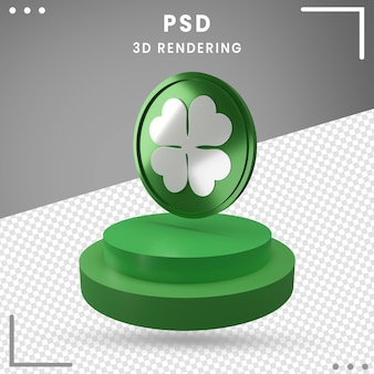 Rendering 3d rotated logo of st. patrick's day isolated