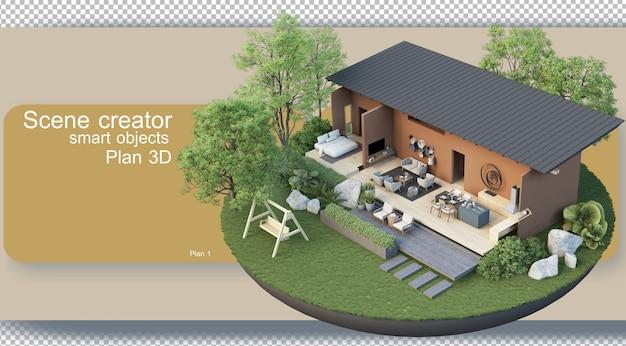 Визуализация архитектурных планов и внутренней отделки