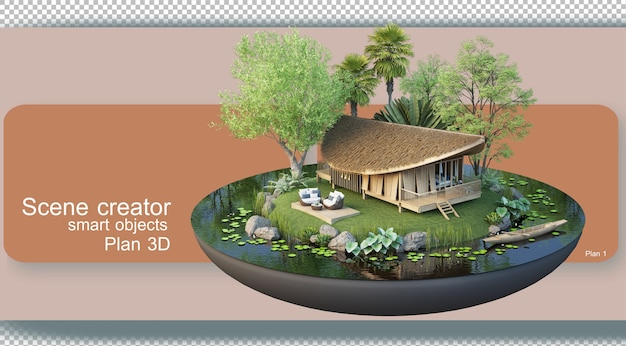 Rendering floor plans architecture and interior decoration