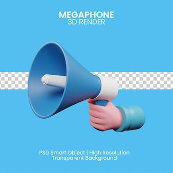 Rendering illustration of megaphone