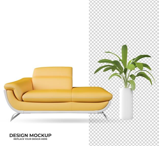 Rendering plant and logo mockup decoration