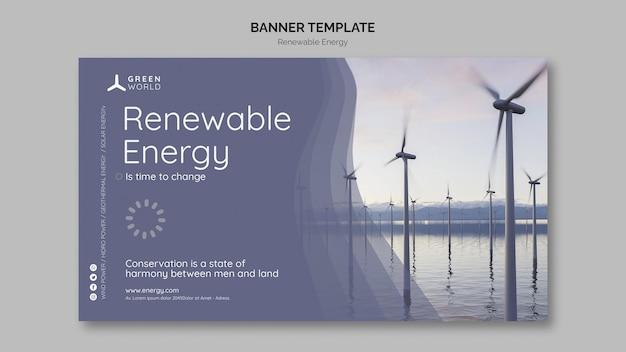 Modello di progettazione di banner di energia rinnovabile