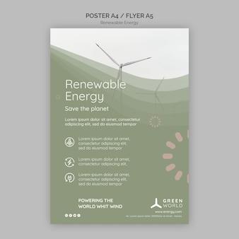 Modello di progettazione di poster di energia rinnovabile