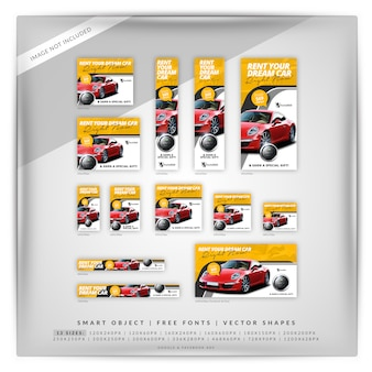 Rent a car banner set