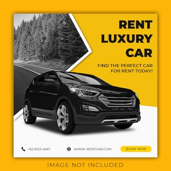 Rent car social media banner template