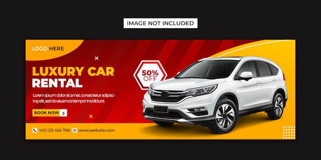 Rent car social media and facebook cover template