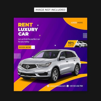 Rent car social media and instagram post template