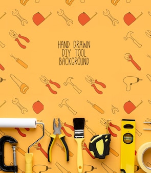 Repairing tools with background mock-up