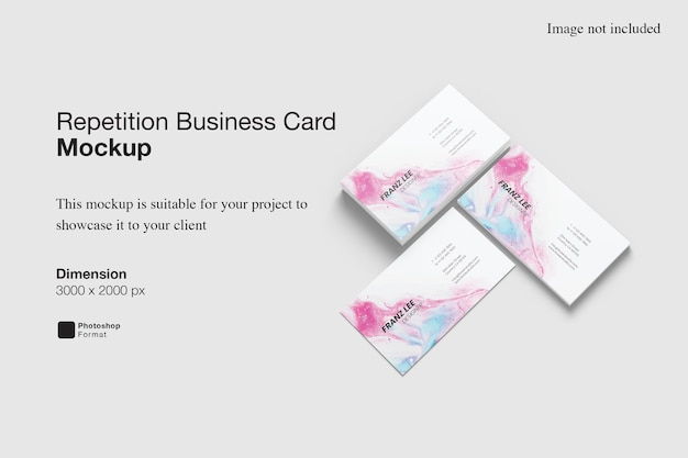 Repetition business card mockup design rendering