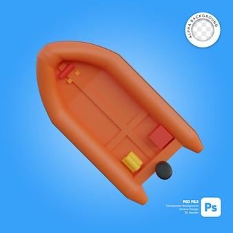 Спасательная лодка вид сверху 3d объект