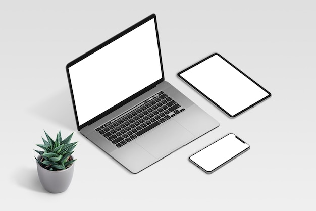 Responsive devices mockup isolated
