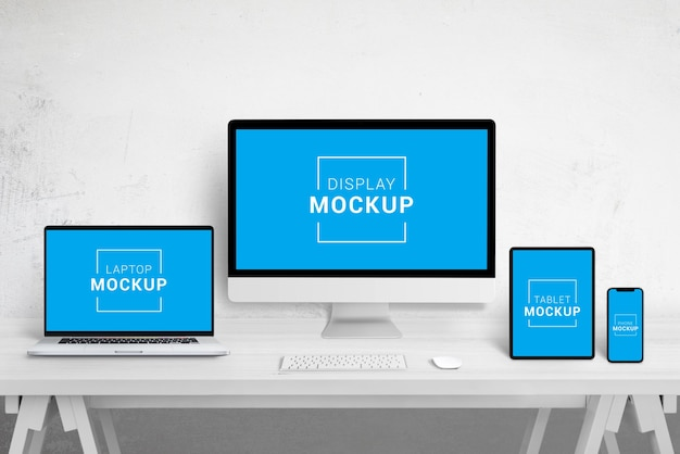 Responsive devices mockup scene creator
