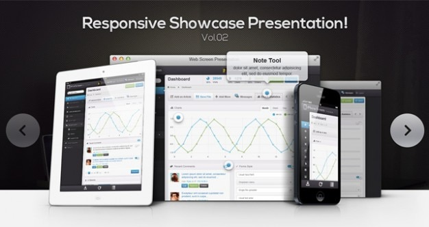 Responsive showcase psd vol