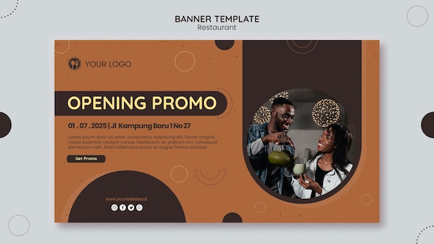 Шаблон рекламного баннера ресторана