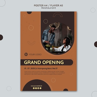 Restaurant ad flyer template