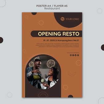 Restaurant ad template flyer