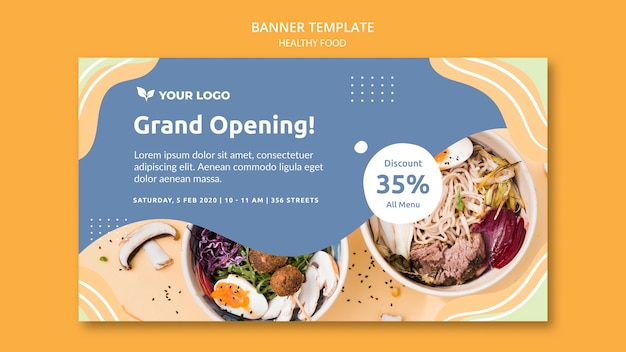 Restaurant banner template design theme