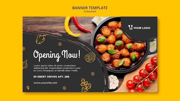 Restaurant banner template