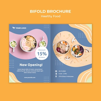 Restaurant brochure template design