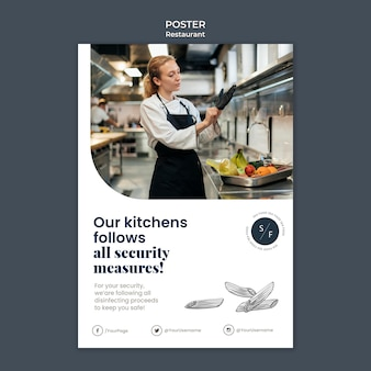 Restaurant business poster template