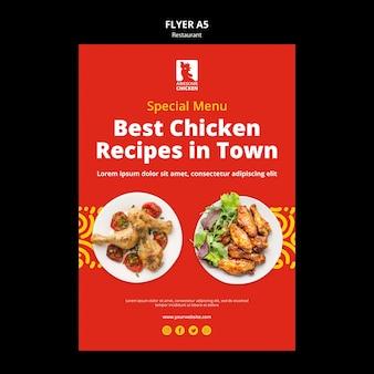 Restaurant concept flyer template