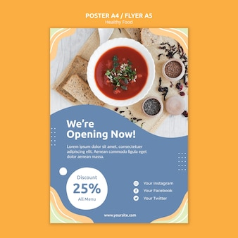 Restaurant flyer template concept