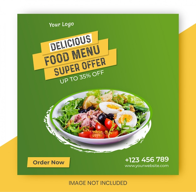 Restaurant food banner design template