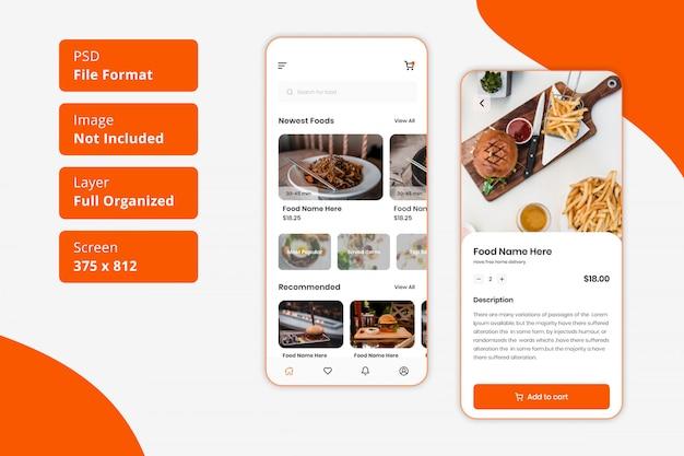 Restaurant food delivery mobile app ui design