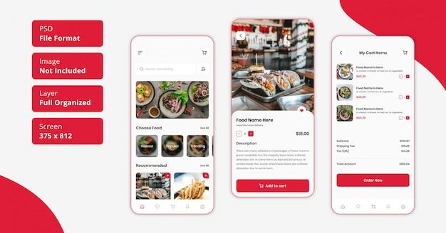 Restaurant food delivery or restaurant food home delivery mobile app ui design