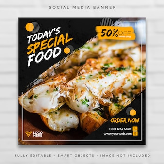 Restaurant food menu social media post