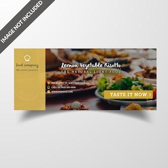 Restaurant food social media cover & post template premium vector