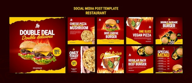 Restaurant food social media post