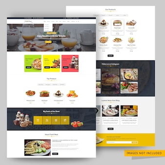 Restaurant and food website premium psd template