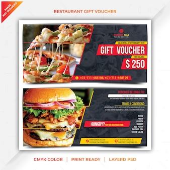 Restaurant gift voucher
