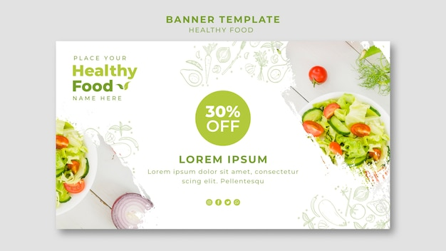 Restaurant horizontal banner template
