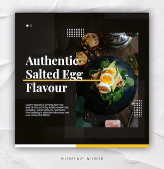 Restaurant instagram post template elegant trendy dynamic