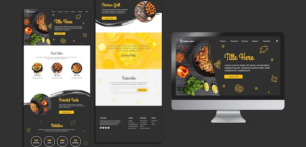 Restaurant landing page template