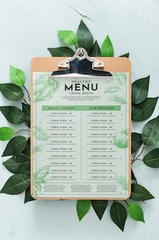 레스토랑 메뉴 개념 모형