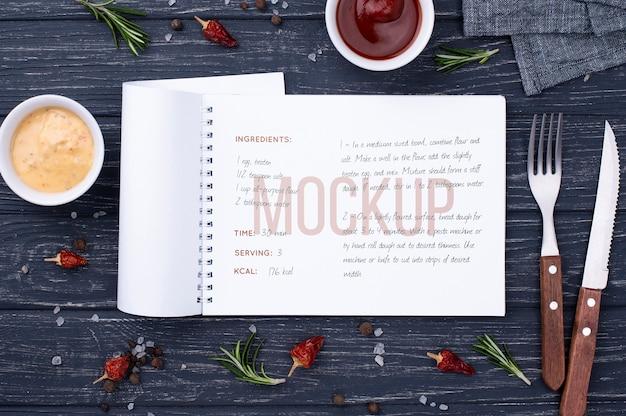 Concetto di menu del ristorante mock-up Psd Gratuite