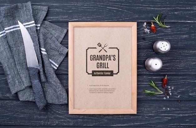 Restaurant menu concept mock-up