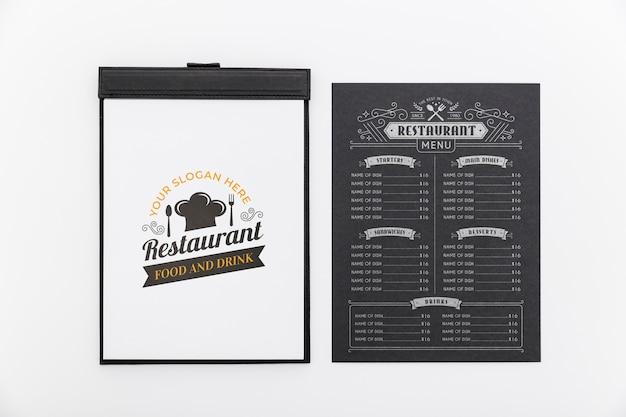 레스토랑 메뉴 개념 이랑