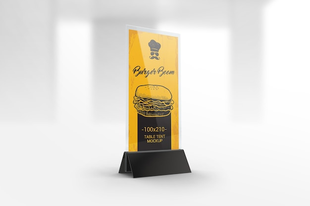 Restaurant menu holder mockup