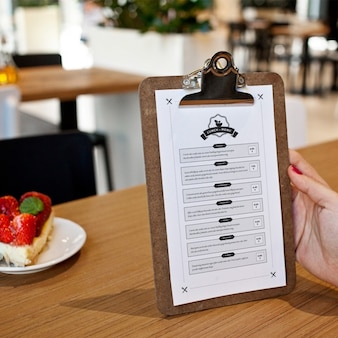 Restaurant menu mock up design