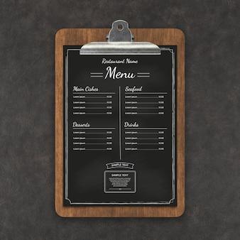 레스토랑 메뉴 모형