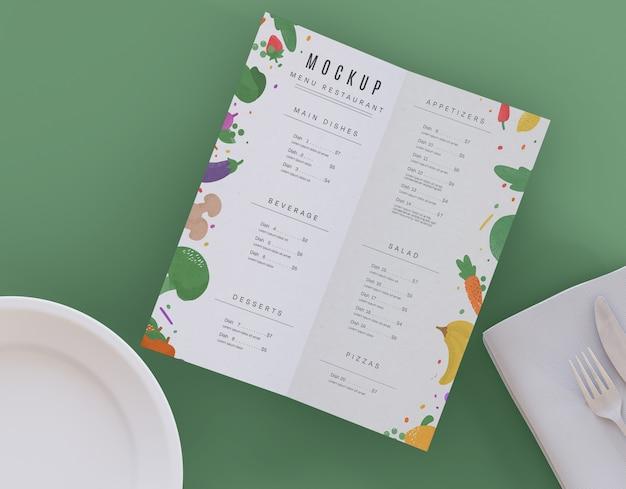 레스토랑 메뉴 목업