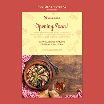Restaurant opening soon poster template