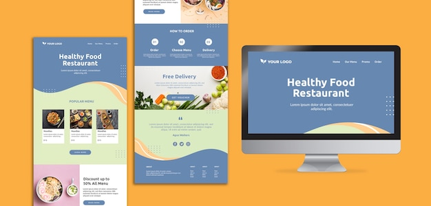 Restaurant opening web template design