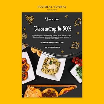 Modello di poster del ristorante